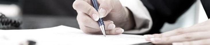 Handtekening offerte lease